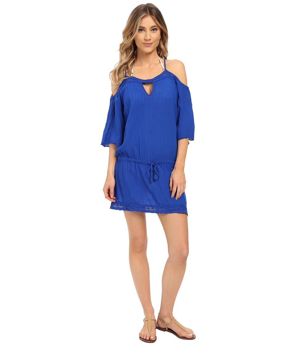 BECCA by Rebecca Virtue - Tivoli Tunic Cover-Up (Electric Blue) Women's Swimwear