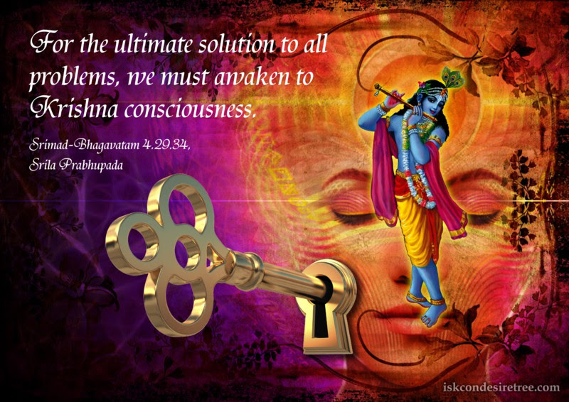Ultimate Solution To All Problems Spiritual Quotes By Iskcon
