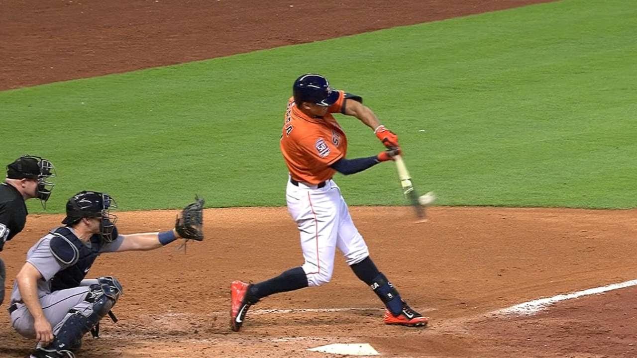 Astros le cayeron a palos a Hernández, Marineros