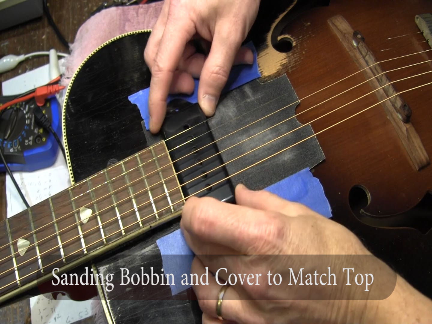How To Add A Dog Ear P 90 Pickup To A Vintage Kay Archtop F Hole
