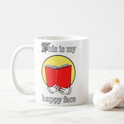 This is my Happy Face - Emoji reading a Book Coffee Mug