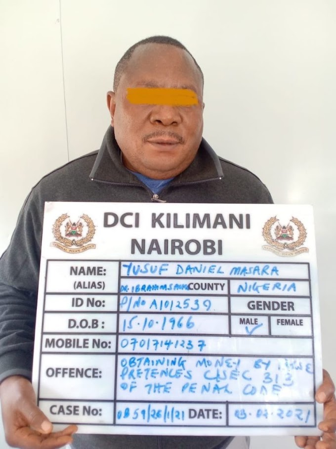 Photo Of 55-Year-Old Nigerian Man Who Was Nabbed In Kenya For Allegedly Defrauding A U.S National