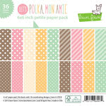 Lawn Fawn - Let's Polka, Mon Amie Collection - 6 x 6 Petite Paper Pack