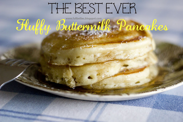 The best ever fluffy buttermilk pancakes