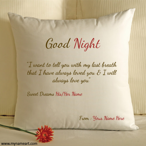 Good Night For Lover With His Her And My Name