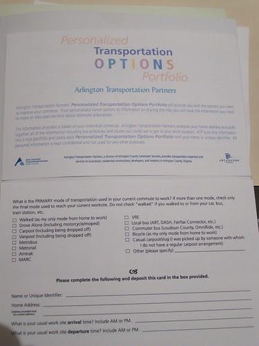 Mobility survey, Arlington Transportation Partners