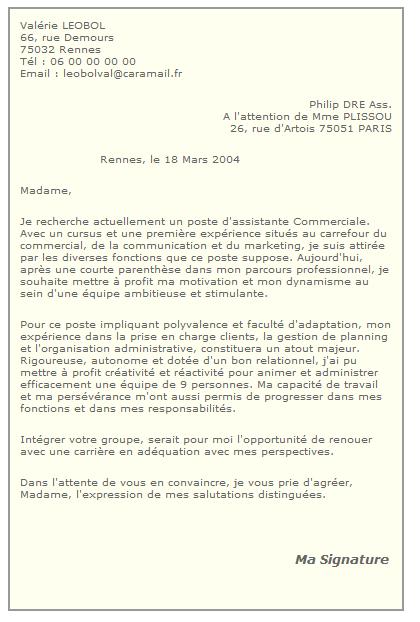 Lettre De Demande D'emploi Sans Annonce   Employment Application