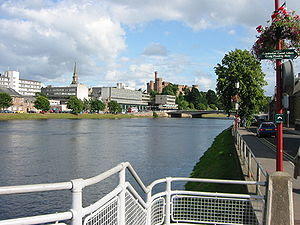 Inverness, the administrative centre of the Hi...