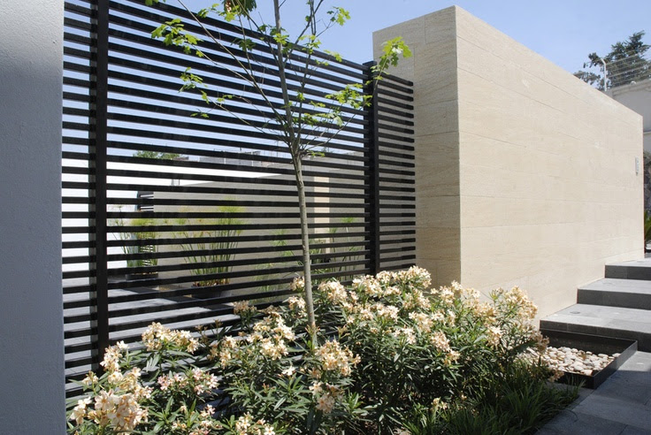 Modern looking iron fence  Home Design  Pinterest