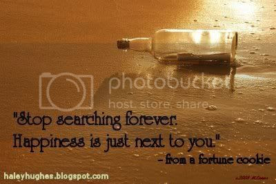 Haley Hughes' message in a bottle: Stop searching forever, happiness is right next to you