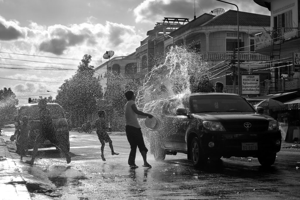 Water festival Luang Pranbang