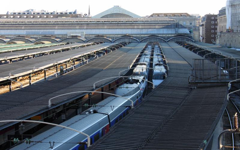 The train shed portion of the Gare de l'Est in Paris