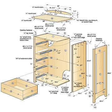 Kid S Oak Dresser Woodworking Plan