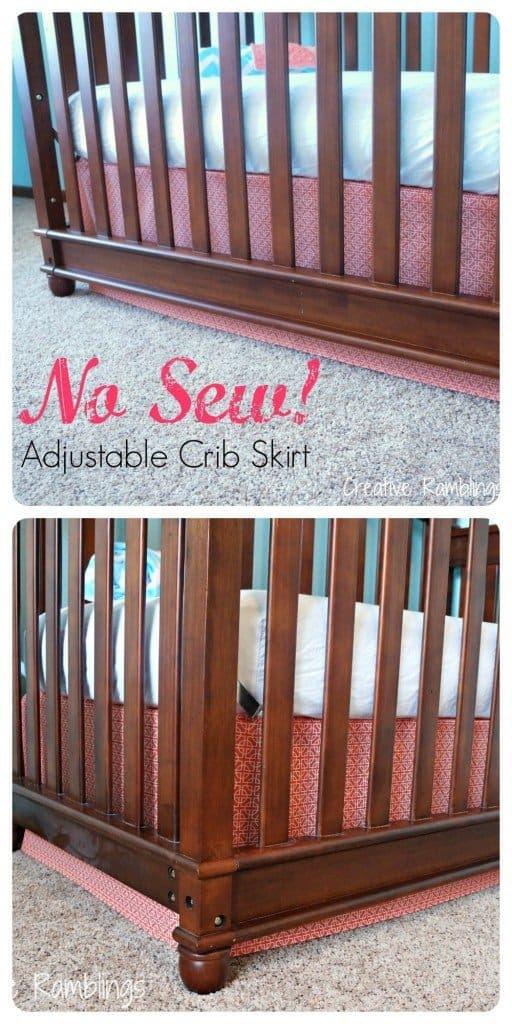No Sew adjustable crib skirt tutorial