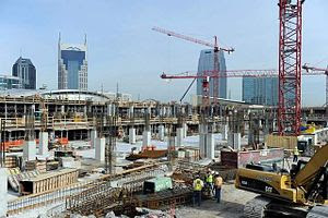 English: Construction progress of Music City C...