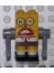 Minifig No: bob009s  Name: Robot SpongeBob with Sticker