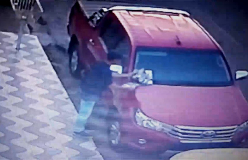 Casal se passa por entregador de panfletos para roubar veículo (FOTO: Reprodução TV Jangadeiro)