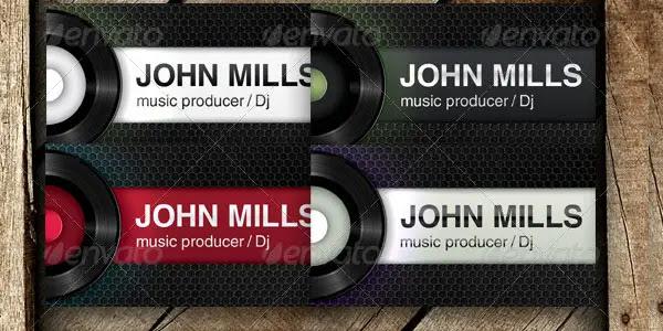 Dj-producer-club business card