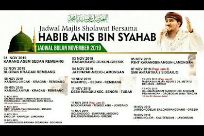 Jadwal Habib Anis Bin Syahab Bulan November 2019