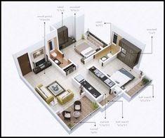 contoh denah rumah sederhana 2 kamar tidur