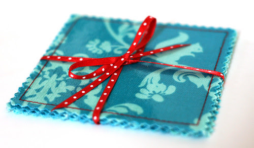 Vinyl + fabric = gift!