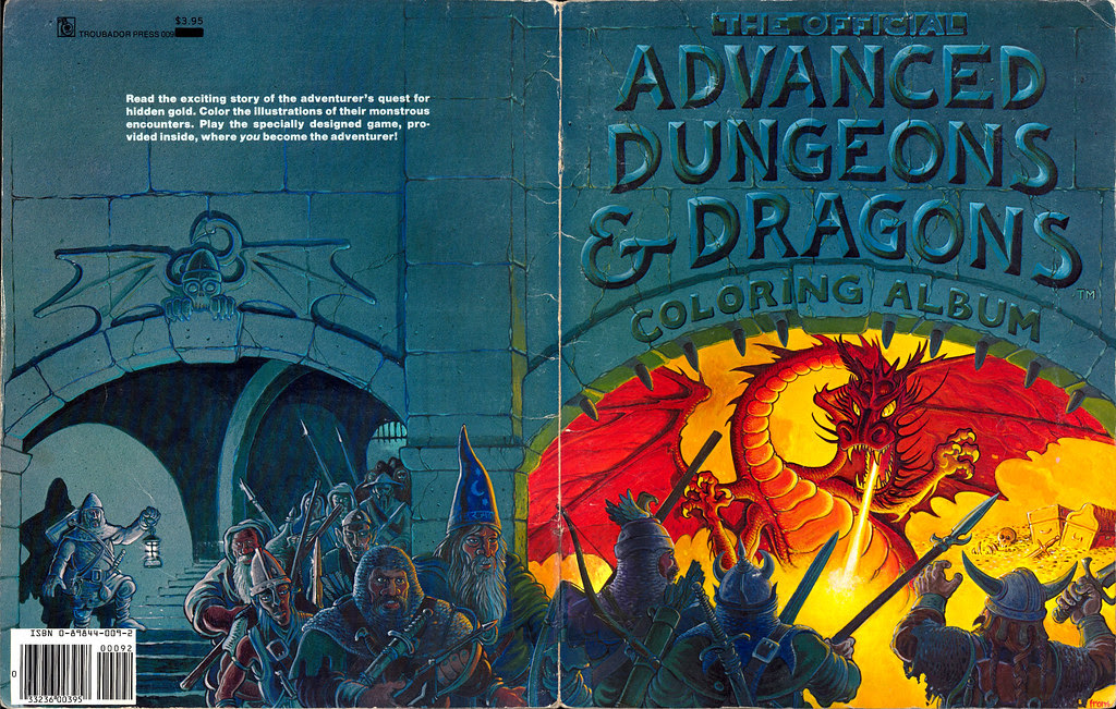Greg Irons - The Official Advanced Dungeons and Dragons Coloring Album (1979)
