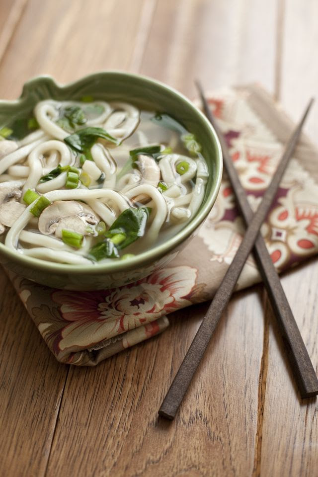 Easy Udon Noodle Miso Soup by Ole & Shaina Olmanson, thefamilykitchen: 15 minute meal! #Udon #Miso_Soup #thefamilykitchen