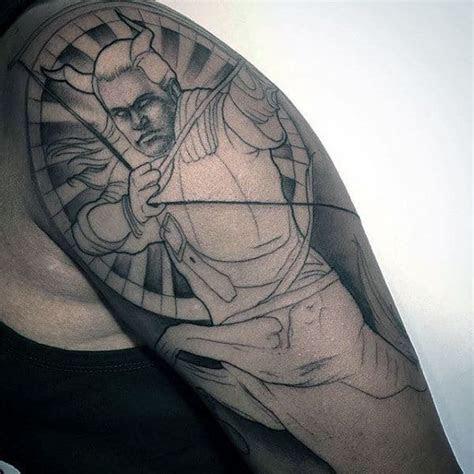 sagittarius tattoos  men astrological sign designs