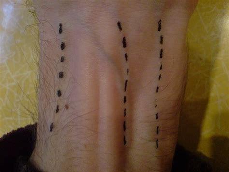 dotted lines veins tattoo tattooimagesbiz