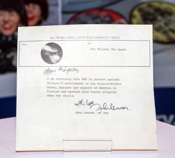 La carta de John Lennon.