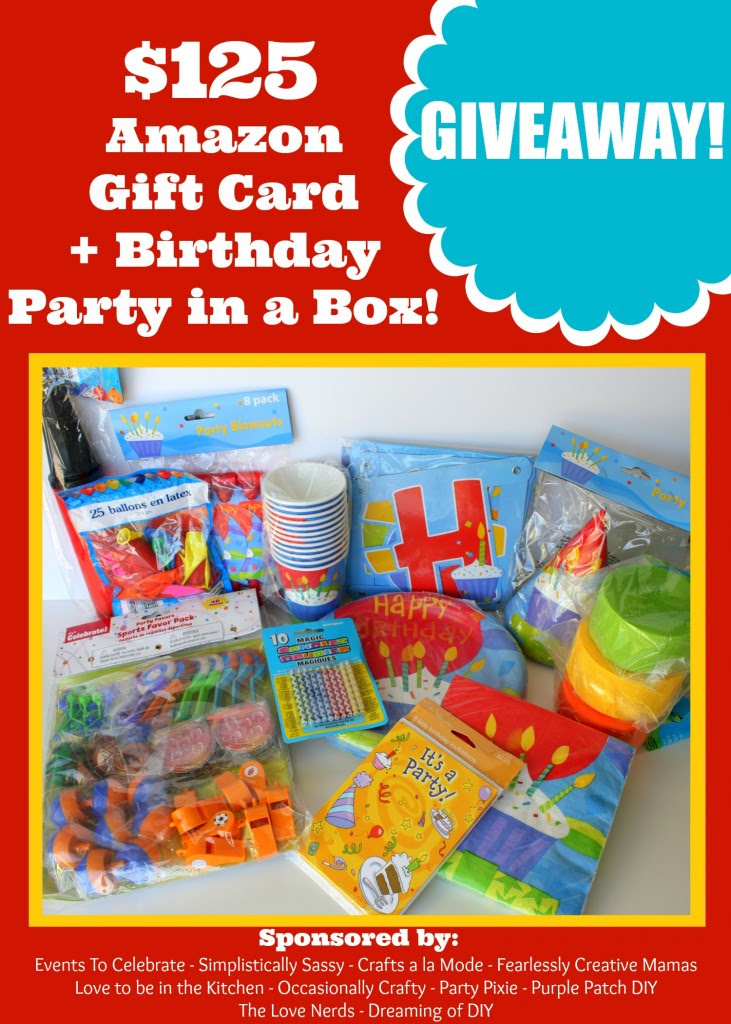 Birthday Party in a Box Giveaway