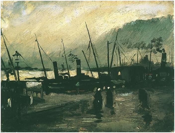 Vincent van Gogh's De Ruijterkade in Amsterdam, The Painting