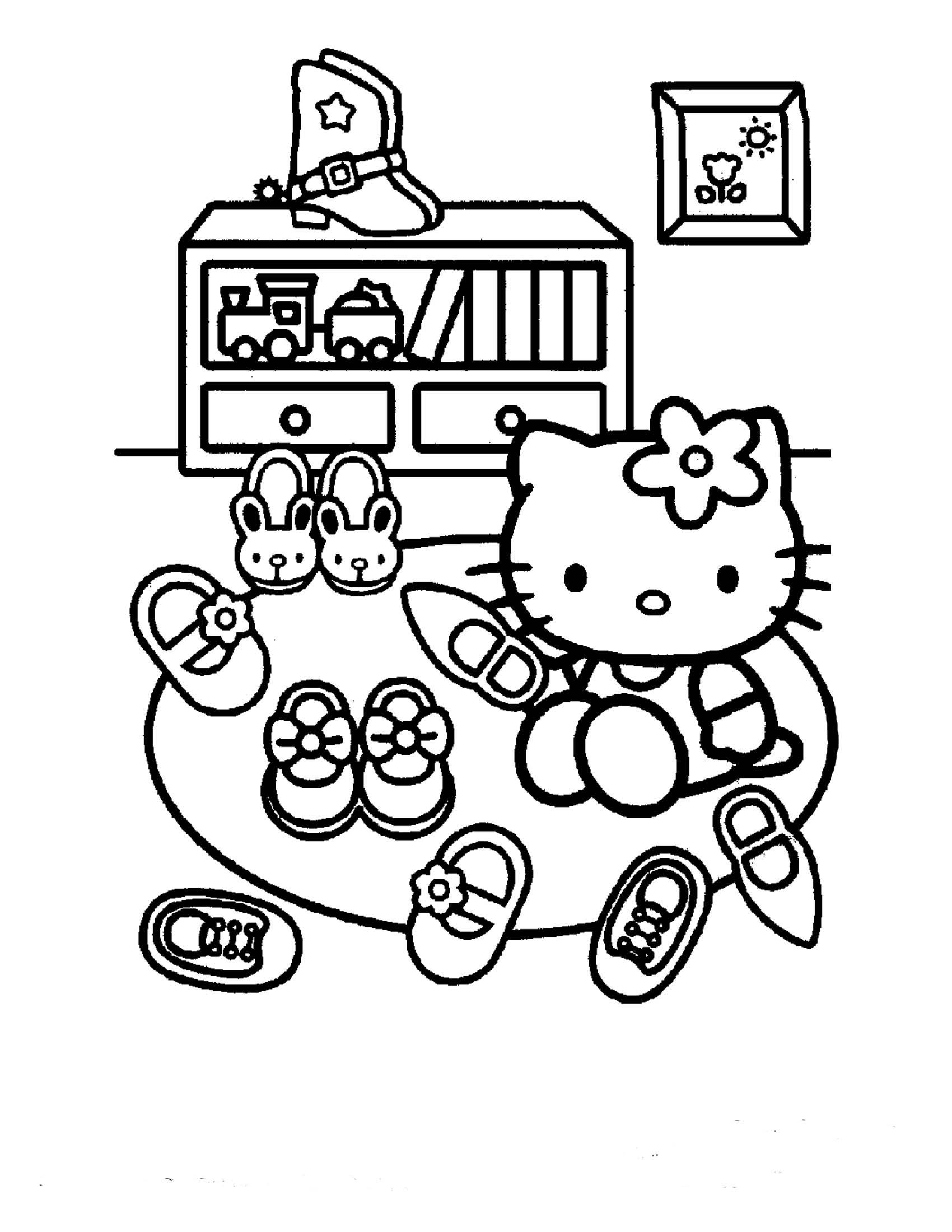 malvorlagen hello kitty meerjungfrau  top kostenlos