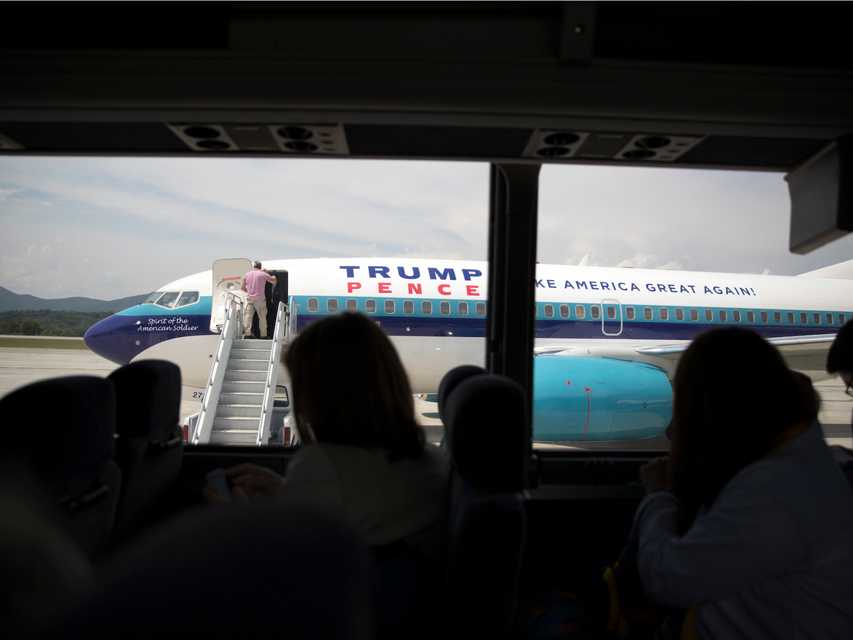 ... Republican vice-presidential candidate Mike Pence were flying around in rented campaign planes...