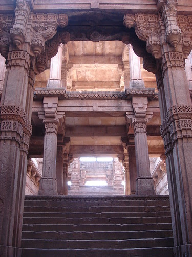 step well, looking up