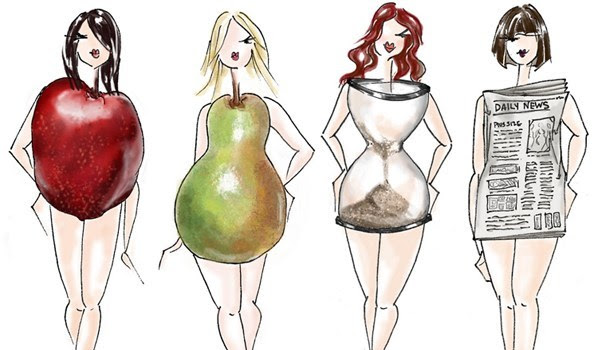 Types body drawings on different dress bodycon