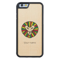 Reggae Lion Rastafari Colored Mane Carved® Maple iPhone 6 Bumper