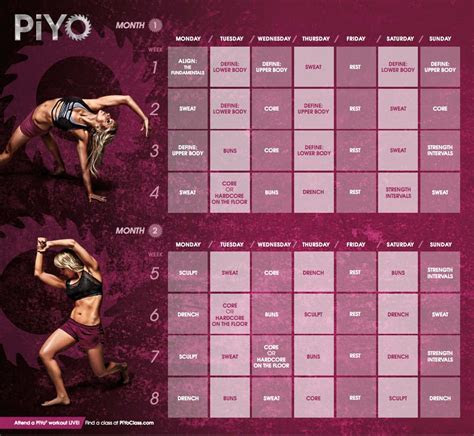 piyo workout calendar weightlossbeforeandafter healthy