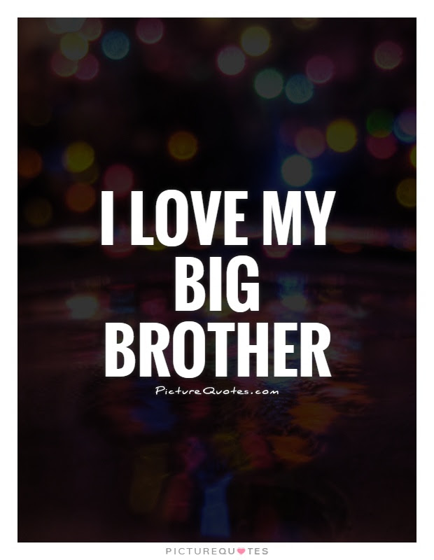 I Love My Big Brother Picture Quotes