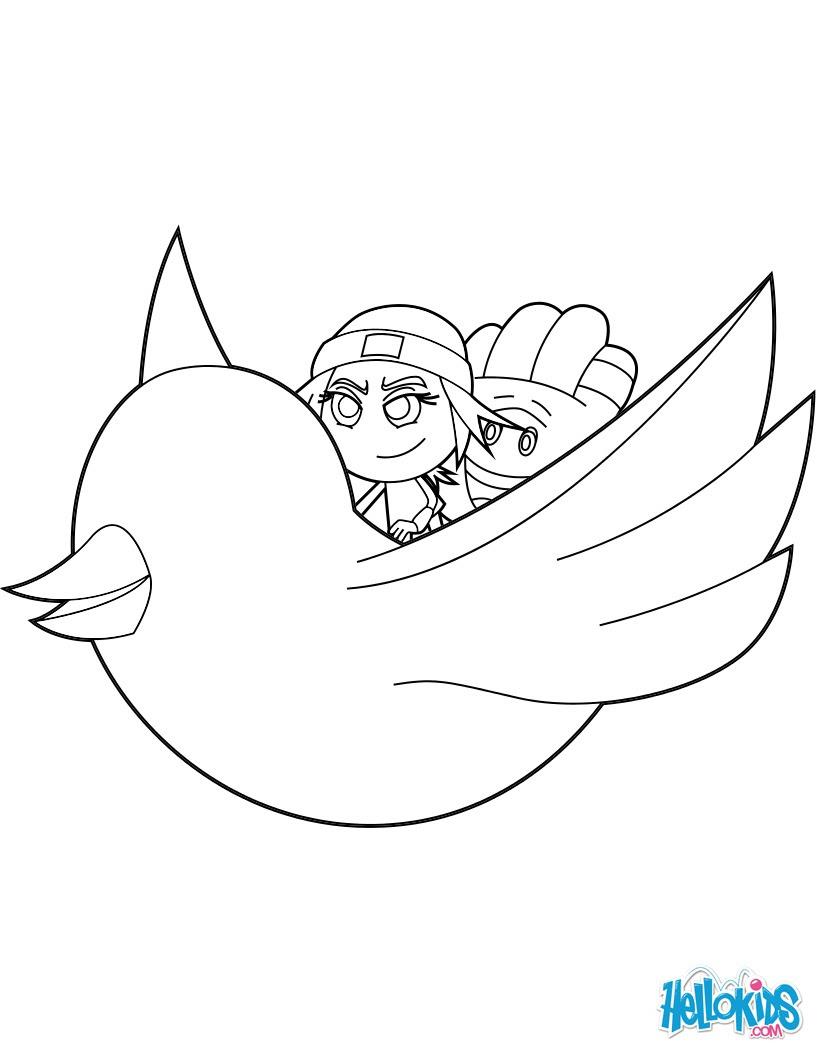 Dibujos Para Colorear Jailbreak And Hi 5 Volar Por El Aire En El