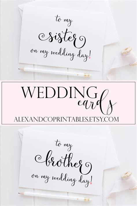 Sister Wedding Card. Brother Wedding Card. Wedding Card