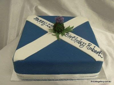 "Amazing ""SCOTTISH FLAG"" cake, 'The Saltire' with a thistle"