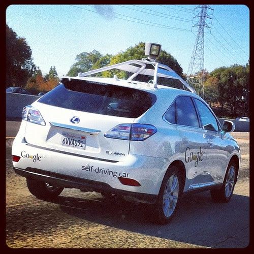 Google self-driving car on 680 with me today