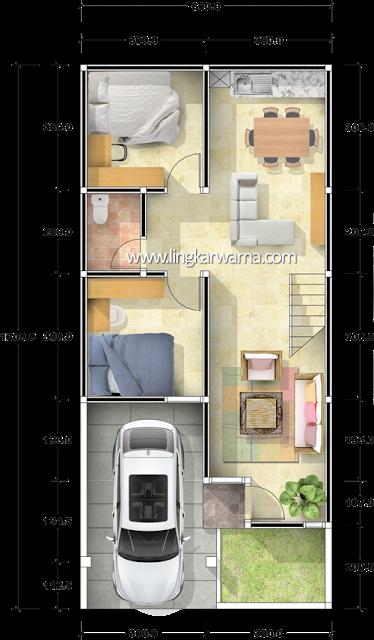 Denah Ruang Tamu Kecil | Ide Rumah Minimalis