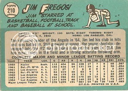 #210 Jim Fregosi (back)