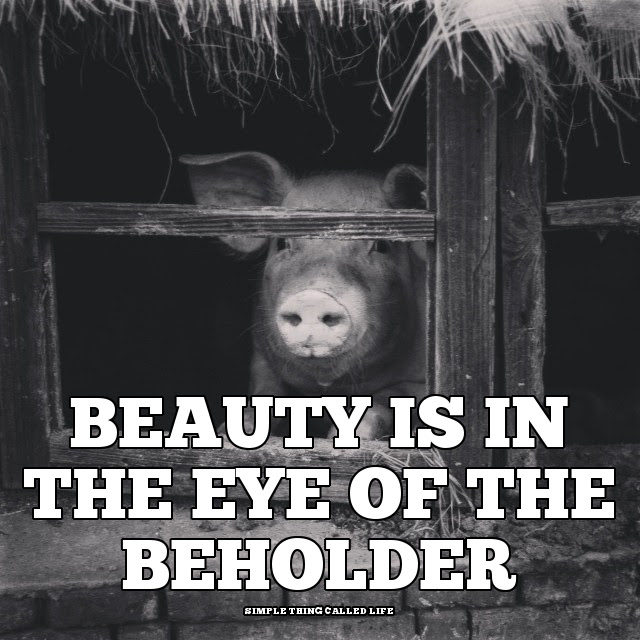 Beauty Is In The Eye Of The Beholder Quote Simple Thing Called Life