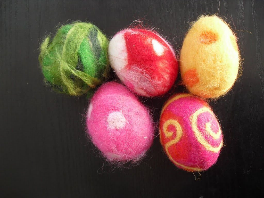 Felting Eggs
