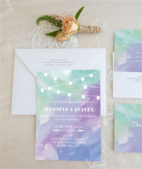 Top 10 Watercolor Wedding Invitations Of 2015 Trends