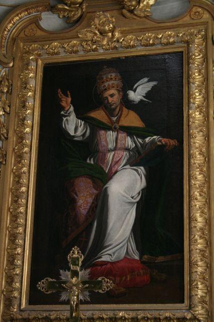 San Gregorio al Celio: Cappella di San Gregorio, San Gregorio benedicente, di Anastasio Fontebuoni (1606-1607)