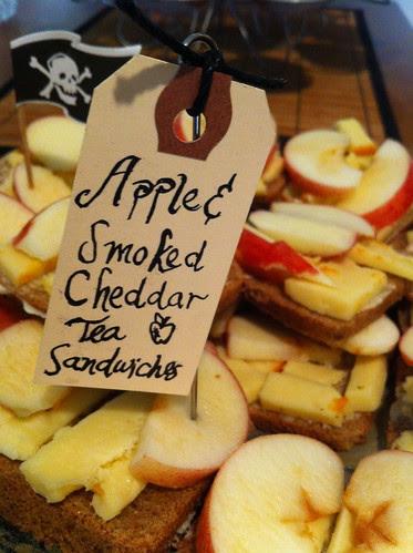Apple & Smoked Cheddar Tea Sandwiches